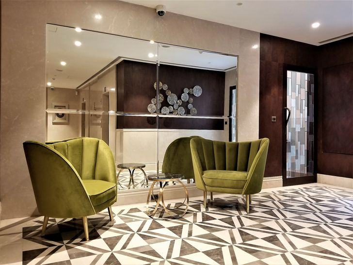 """entrance lobby interiors 92 bellevue apts architect shahen mistry indiaartndesign"""
