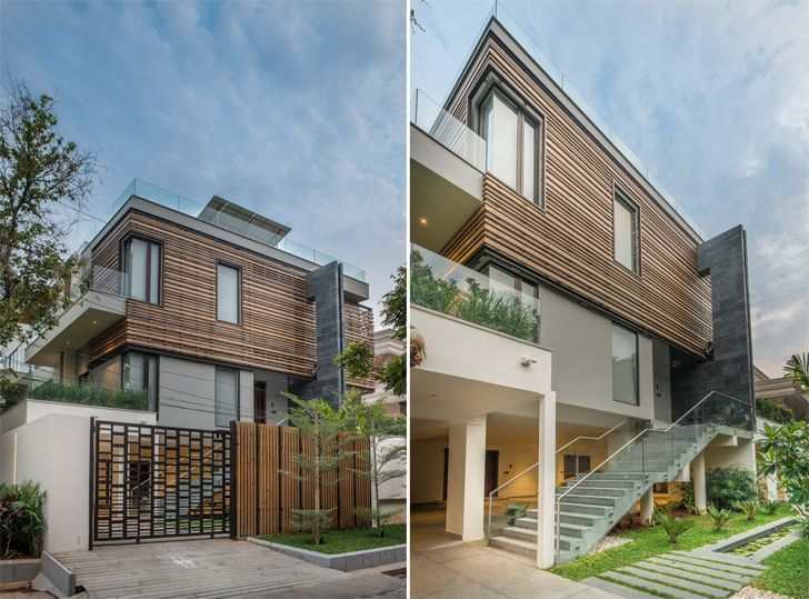 """facade hyderabad home urban zen design indiaartndesign"""