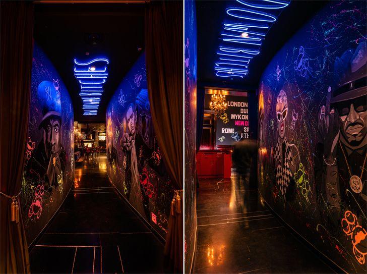 """graffitti walled walkway toyroom chromed design studio indiaartndesign"""