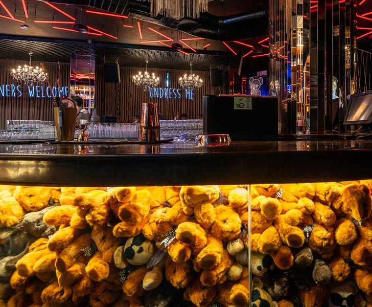 """teddybears on bar dado toyroom chromed design studio indiaartndesign"""
