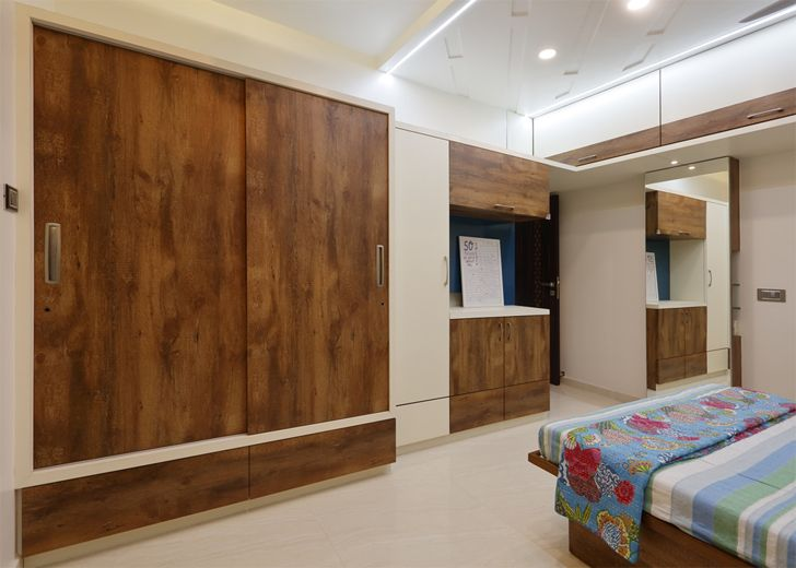 """bedroom1 pune residence cluster one creative solutions indiaartndesign"""