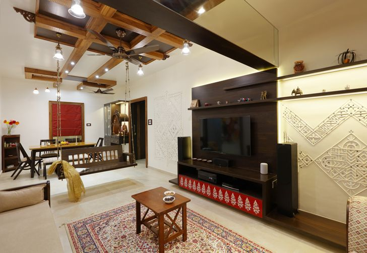 """mirrored beam pune residence cluster one creative solutions indiaartndesign"""