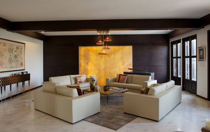 """feature wall udaipur residence Design inc architects indiaartndesign"""
