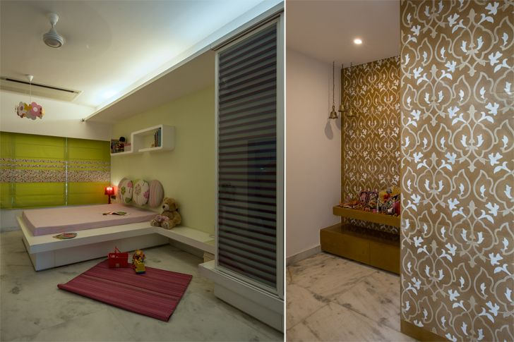 """kids room and mandir udaipur residence Design inc architects indiaartndesign"""