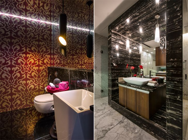 """luxurious washrooms udaipur residence Design inc architects indiaartndesign"""