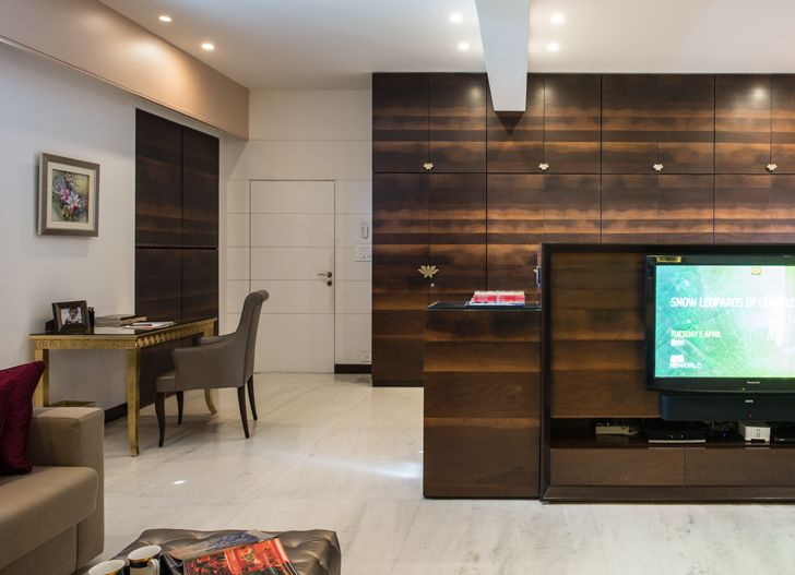"""master suite TV unit udaipur residence Design inc architects indiaartndesign"""