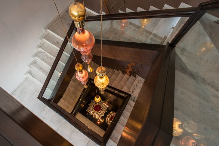 """stairwell udaipur residence Design inc architects indiaartndesign"""