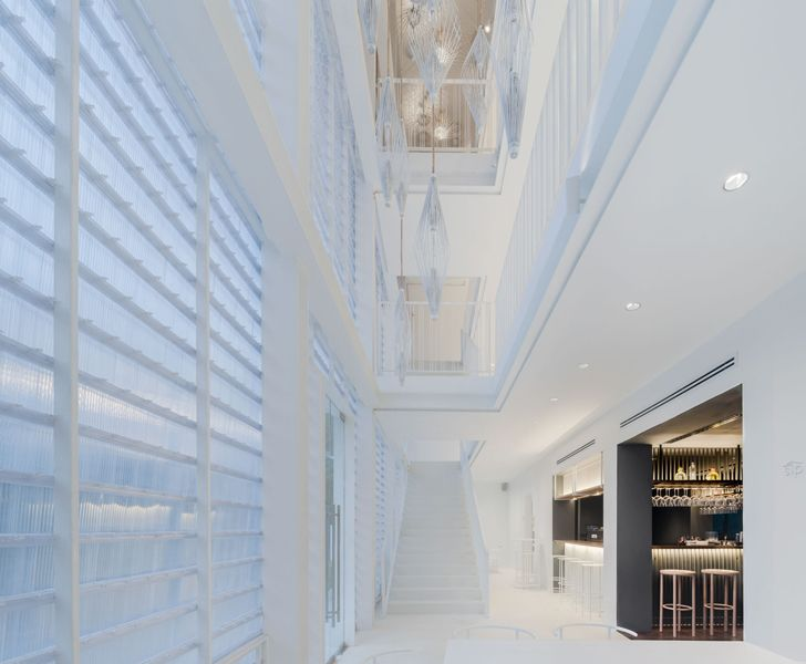 """double height ceiling little shelter hotel Department of Architecture Co indiaartndesign"""