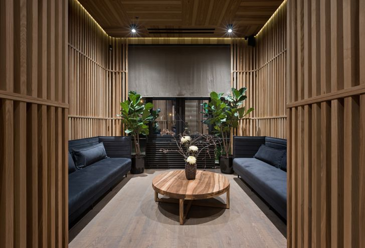 """all wooden interior Fujiwara Yoshi makhno architects indiaartndesign"""