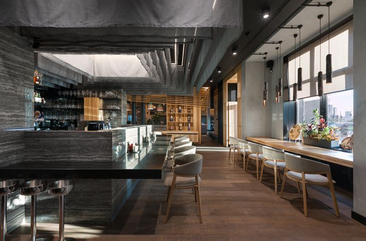 """restaurant Fujiwara Yoshi makhno architects indiaartndesign"""