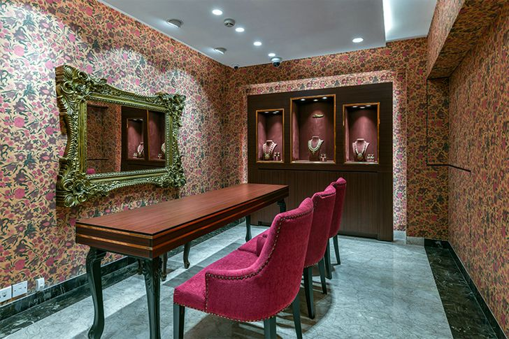 """private room detail manubhai jewellers borivali ornate projects indiaartndesign"""