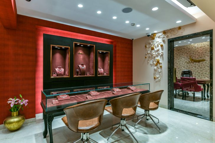 """showroom manubhai jewellers borivali ornate projects indiaartndesign"""