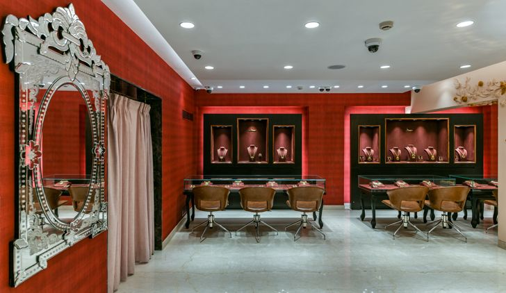 """venetian mirror manubhai jewellers borivali ornate projects indiaartndesign"""