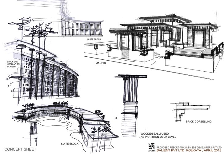 """sketch1 amaya resort salient design indiaartndesign"""