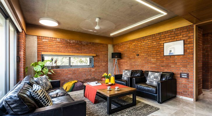 """brick house ahmedabad the grid architects indiaartndesign"""
