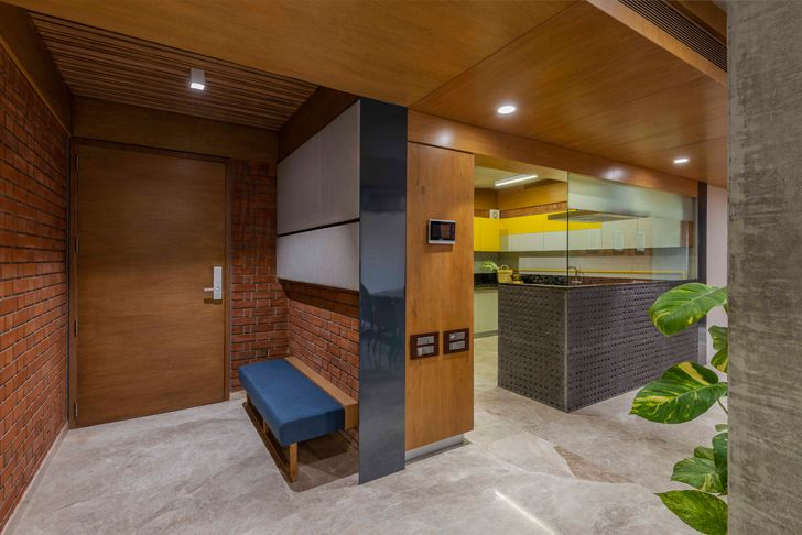 """entrance brick house ahmedabad the grid architects indiaartndesign"""