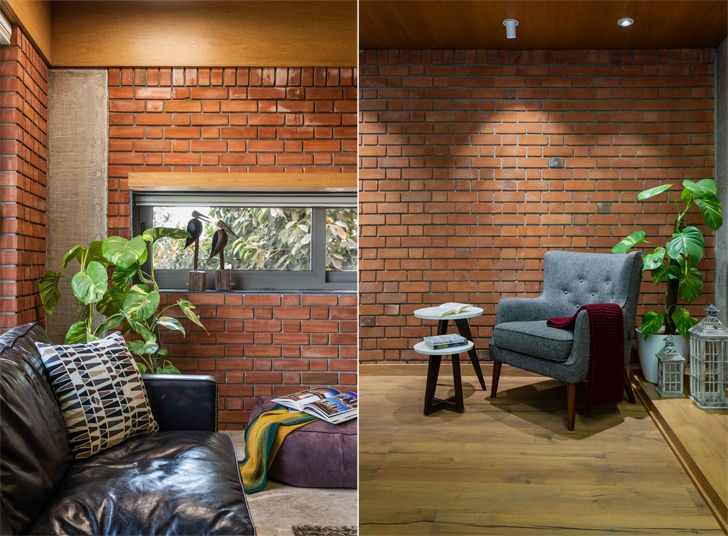 """exposed brick walls brick house ahmedabad the grid architects indiaartndesign"""
