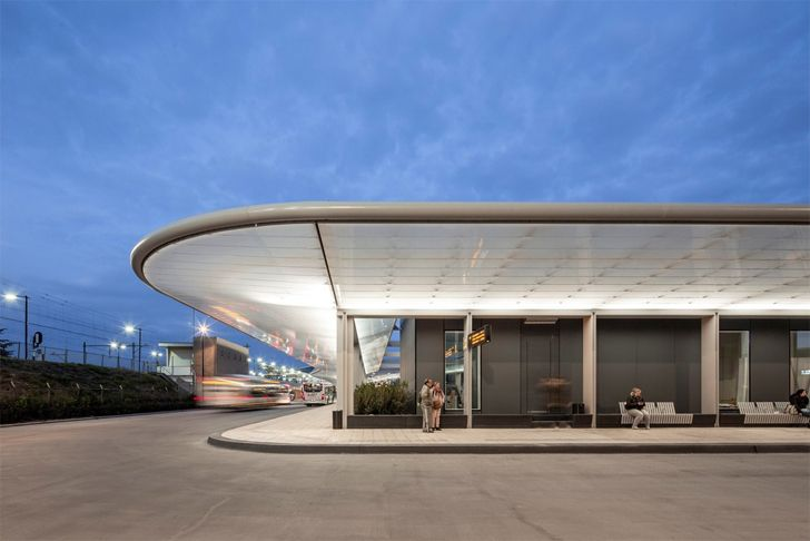 """awning bus station Tilburg cepezed design studio indiaartndesign"""