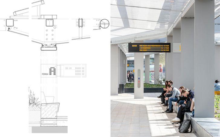 """drawing detail bus station Tilburg cepezed design studio indiaartndesign"""