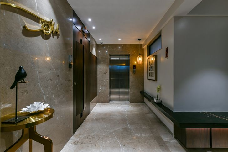"""""""marble clad passage SNHouse Aum Architects indiaartndesign"""""""
