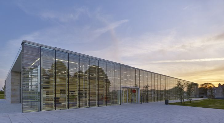 """embroidered facade bayeux media library serero architects indiaartndesign"""