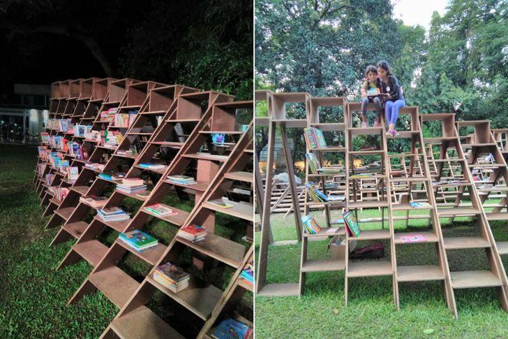 """""""children Book worm installation nuru karim CSMVS indiaartndesign"""""""