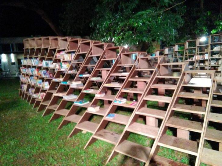 """open air reading Book worm installation nuru karim CSMVS indiaartndesign"""