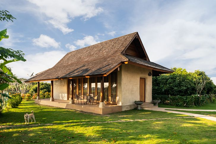 """cottage Earth & Wood Villa by Chiangmai Life Architects thailand indiaartndesign"""