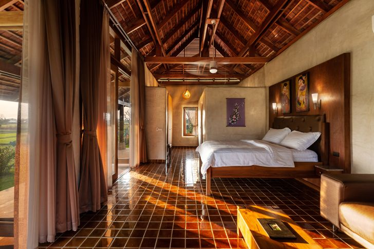 """master bedroom Earth & Wood Villa by Chiangmai Life Architects thailand indiaartndesign"""
