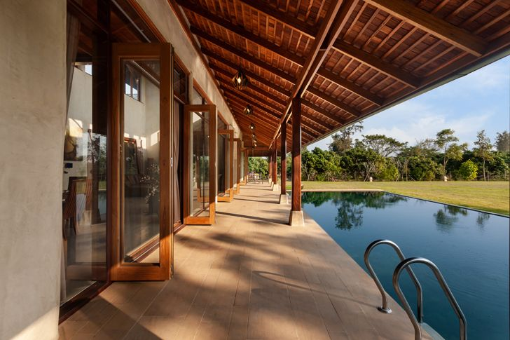 """swimming pool Earth & Wood Villa by Chiangmai Life Architects thailand indiaartndesign"""