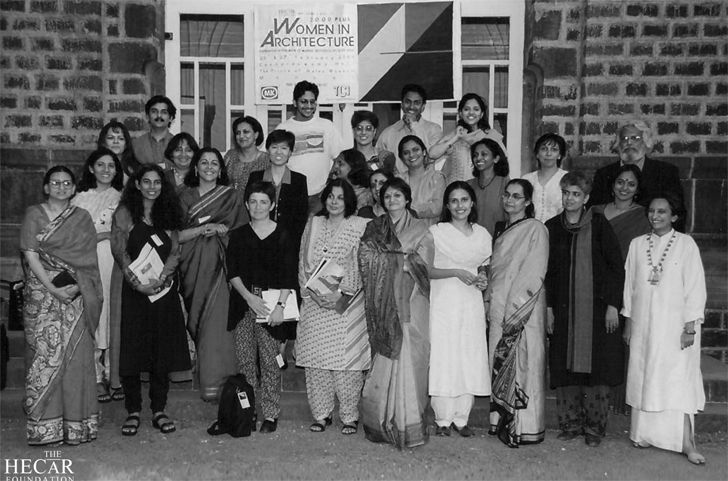 """group pic Women in architecture 2000 hecar foundation brinda somaya indiaartndesign"""