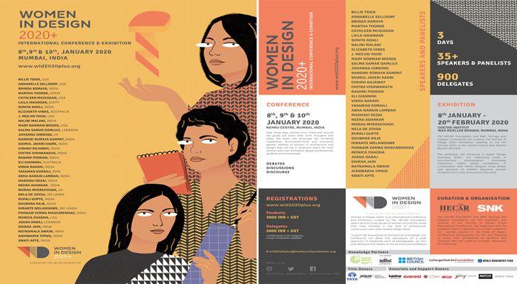 """poster Women in design 2020 hecar foundation brinda somaya indiaartndesign"""
