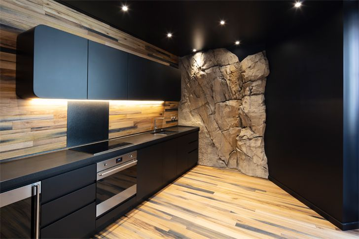 """kitchen Villa Troglodyte JPL Architects indiaartndesign"""