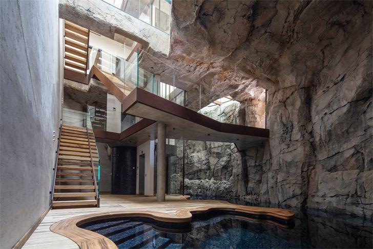 """vertical fracture Villa Troglodyte JPL Architects indiaartndesign"""
