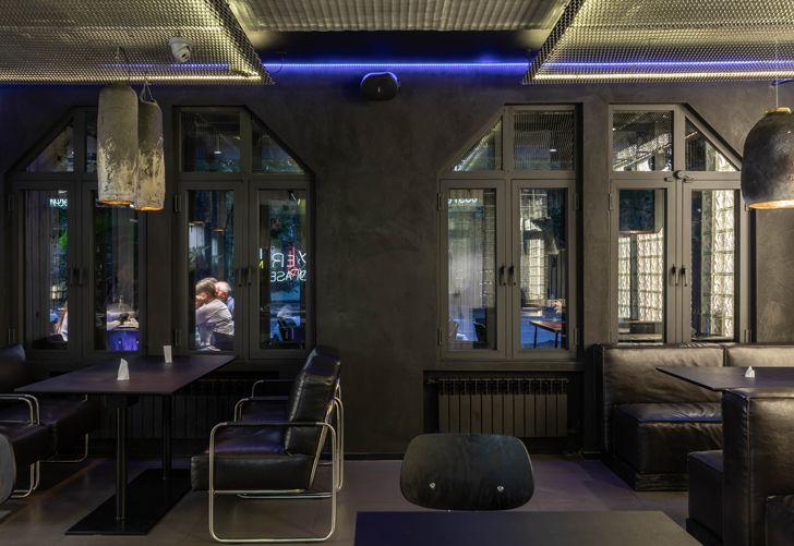 """black interiors kofan sergey makhno architects indiaartndesign"""