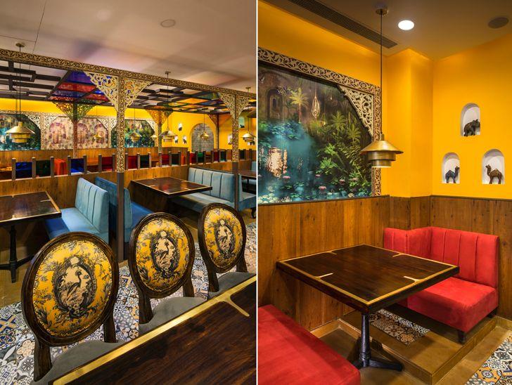 """primary colours manbhavan restaurant sankraman architects indiaartndesign"""