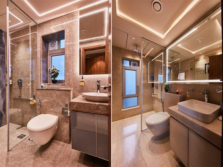 """bathrooms luxurious mumbai apartment mahesh punjabi associates indiaartndesign"""