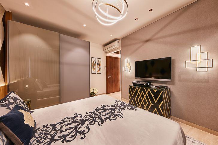 """bedroom luxurious mumbai apartment mahesh punjabi associates indiaartndesign"""