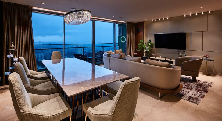 """living dining luxurious mumbai apartment mahesh punjabi associates indiaartndesign"""
