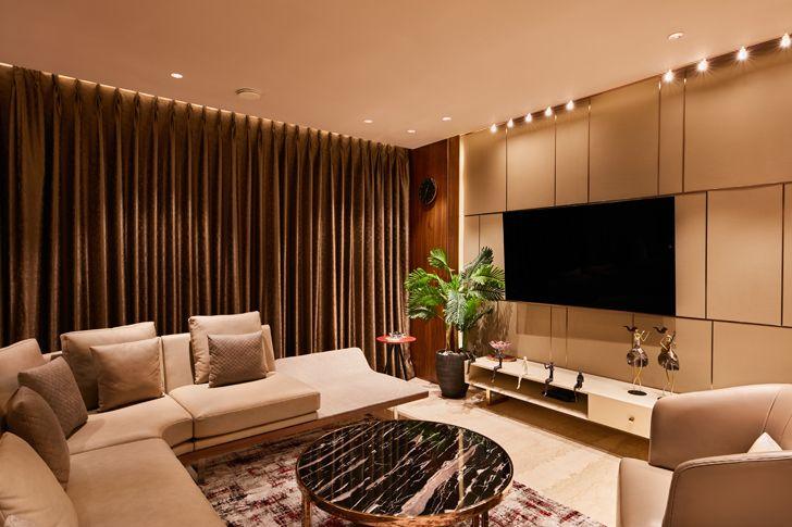 """living room luxurious mumbai apartment mahesh punjabi associates indiaartndesign"""