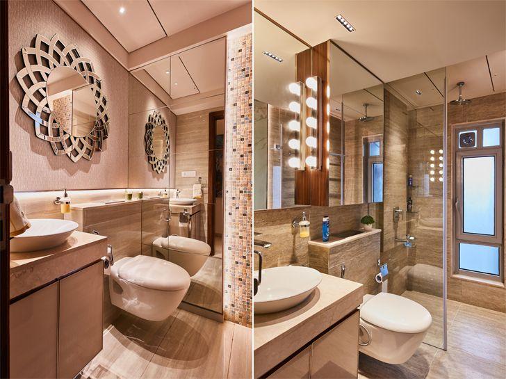 """washrooms luxurious mumbai apartment mahesh punjabi associates indiaartndesign"""