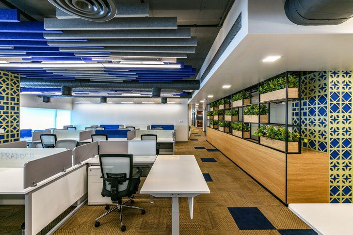 """green wall Bosch HQ Studio N cube indiaartdesign"""