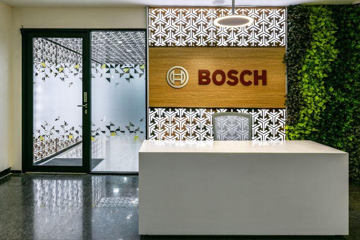 """reception Bosch HQ Studio N cube indiaartdesign"""