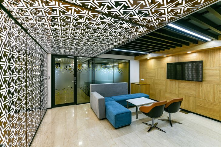 """reception lobby Bosch HQ Studio N cube indiaartdesign"""