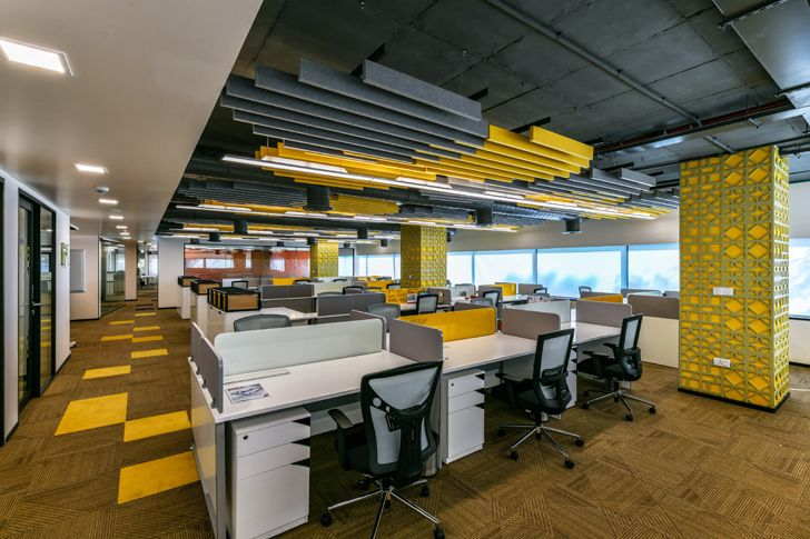 """work stations reception Bosch HQ Studio N cube indiaartdesign"""