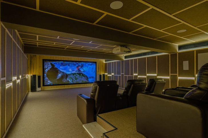 """Home theatre the art of sound sharan arch design studio indiaartndesign"""