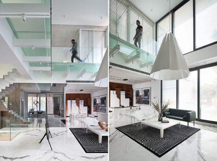 """""""glass bridges indoor bungalow new delhi atrey and associates indiaartndesign"""""""