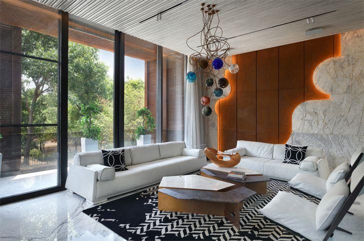 """living room bungalow new delhi atrey and associates indiaartndesign"""