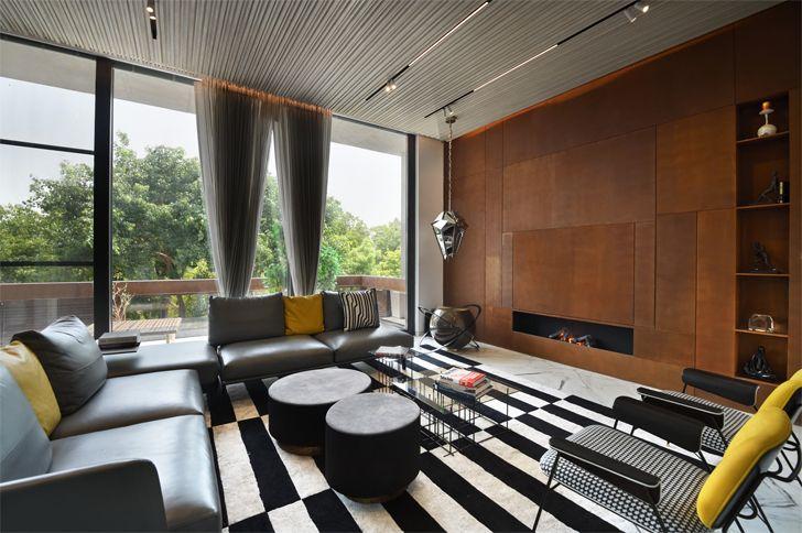 """lounge bungalow new delhi atrey and associates indiaartndesign"""