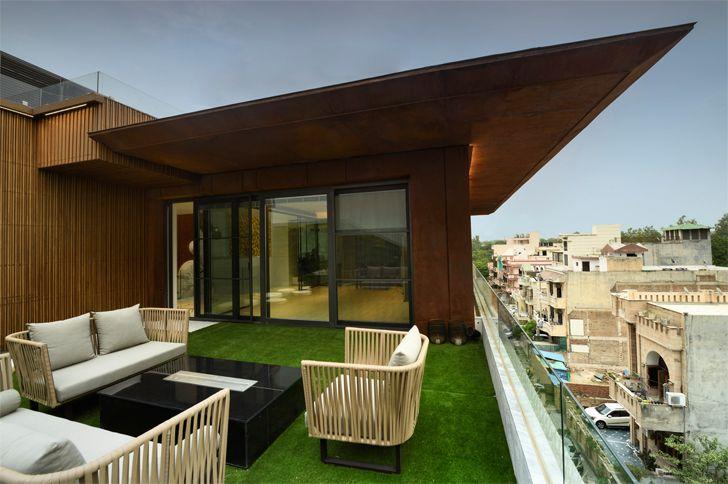 """terrace bungalow new delhi atrey and associates indiaartndesign"""